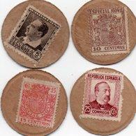 SPAGNA 5,10,15,25 CENTIMOS 1938 P-96 F,I,P,R (PERFETTE CONFIZIONI)Spagna, Fábrica Nacional De Moneda Y Timbre - FNMT - [ 3] 1936-1975: Regime Van Franco