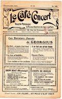 LE CAFE CONCERT Bulletin Périodique Du Nouveau Répertoire Des Concerts De Paris N° 158 Mai 1929 - Objets Dérivés