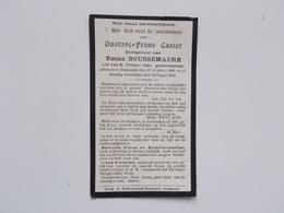 Bidprintje: Gustave-Frans CASIER Echtg.Emma BOUSSEMAERE, Dudzele 27/10/1888 - 24/8/1932 - Faire-part