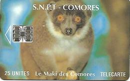 @+  Comores  - Le Maki - SC7 - Verso Avec Logo Moreno - Serie C54149607 - Ref : KM-OPT-0008F - Comoros