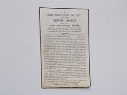 Bidprintje: Jerome ANECA Zoon Van Wijlen Pieter & Julie STUBBE, Torhout 29/10/1914 - 21/7/1950 - Faire-part