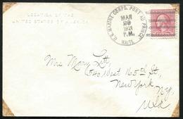 1923 Cover U.S. Marine Corps Port Au Prince Haiti CDS 4 Bar Killer 2¢ / Legation Of The United States Embossed Envelope - Haiti