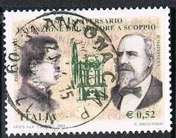 2003 - ITALIA / ITALY - 150° DELL'INVENZIONE DEL MOTORE A SCOPPIO /150th OF THE DOUBLE ENGINE INVENTION. USATO - 6. 1946-.. Repubblica