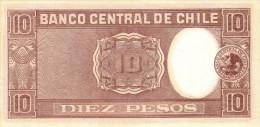 CHILE P. 120 10 P 1958 UNC - Chili