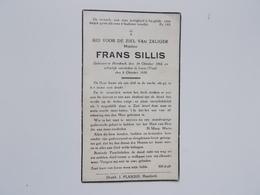 Bidprintje: Frans SILLIS , Hombeek 14/10/1882 - Lieze (Visé)  8/10/1939 - Faire-part