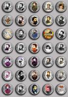 Georges Bizet Music Opera BADGE BUTTON PIN SET  (1inch/25mm Diameter) 45 DIFF - Music