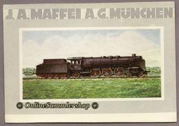 BRD - AK :  J. A. Maffei A.G. München - Einheitslok 02 01 - Eisenbahnen