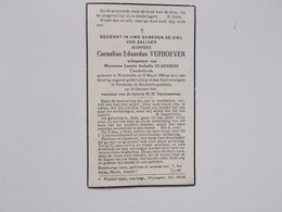 Bidprintje: Cornelius VERHOEVEN Echtg. Leonia CLAESSENS, Westmalle 13/31898 - Turnhout 16/10/1941 - Faire-part