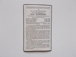 Bidprintje: Pater Jozef DANGREAU,Snaaskerke 12/4/1912 - Gedood Te Siao-nor 22/1/1939, Missionaris Van Scheut - Faire-part