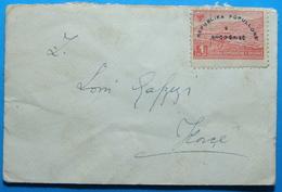1946 Albania Small Cover Sent To KORCA, Stamp: 1 Frang PERMET May 1944 - Albania