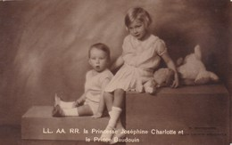 Koninklijke Familie, Famille Royale, La Princesse Josephine Charlotte Et Le Prince Baudouin (pk50702) - Koninklijke Families