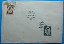 1960 Albania 2 Stamps On Cover 3 And 11 Lek, Aleksander Moisiu, Seal TIRANA - Albania