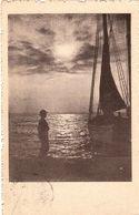 Cartolina Con Bambino E Barca Viaggiata 1917 Con Bollo Rimosso Per Scritta Sottostante ( 213 ) - Non Classificati