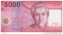 CHILE P. 163c 5000 P 2012 UNC - Chili