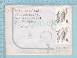 Senegal( Par Avion Desing, Cover Thies  1997 Senegal To Sherbrooke Canada ) - Sénégal (1960-...)