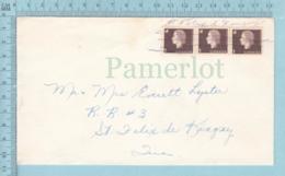 Canada - 3 X 1¢, 1962,  Hand Killer, Pencil Strique And Town Name,Dt Felix De Kingsey Quebec - 1952-.... Règne D'Elizabeth II