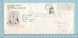 """Canada - Greve Des Poste, Courrier Distribué Par Juan Fuca, Many Postmark """"VIA Black Ball Ferry Coho..  And One Sticker, - Poste"""