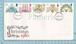 GB - FDC Christmas 1980, #928 To 932 - Noël