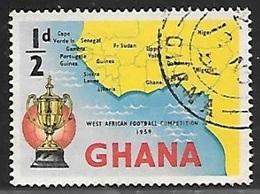 1959 Football, 1/2d, Used - Ghana (1957-...)