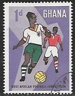 1959 Football, 1d, Used - Ghana (1957-...)