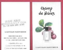 F- New !! Carte à Sprayer L'Artisan Parfumeur - Champ De Baies    - Perfume Card - Japon - Perfume Cards