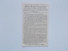 Bidprintje: Marie-Louise CHRISTIAENS Wwe Florimond BRYS, Oost-Rozebeke 11/8/1862 - Oostende 4/7/1935 - Faire-part