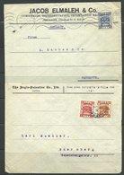 (709)  Ca. 1923/27 5 Briefe Nach Deutschland, Schweiz, Frankiert Mit Palestine  - Palestine