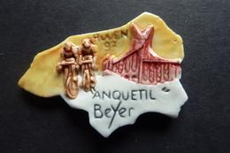 """Fève Personnalisée Représentant La Seine Maritime """"Rouen 97 Anquetil Beyer"""", Vélo, Cyclisme, Tour De France - Sports"""