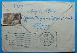 1961 Albania Airmail Letter Send From ELBASAN To TIRANA - Albania