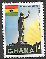 1959 1p Statue, Mint Hinged - Ghana (1957-...)