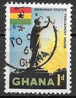 1959 1p Statue, Used - Ghana (1957-...)