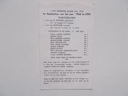Bidprintje: Aandenken  Van Het Jaar 1966 Te Leke, Doopsels, Huwelijken En Overlijdens - Faire-part