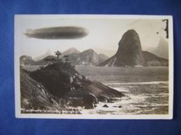 ZEPPELIN (MOUNTING) POSTCARD IN RIO DE JANEIRO (BRAZIL) IN THE STATE - Dirigeables