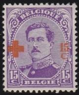 Belgie   .    OBP     .     154       .      *     .    Ongebruikt Met Charnier  .  /   .  Neuf Avec Charniere - 1918 Croix-Rouge