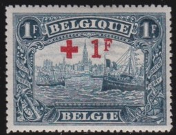 Belgie   .    OBP     .     160          .      *     .    Ongebruikt Met Charnier  .  /   .  Neuf Avec Charniere - 1918 Croix-Rouge