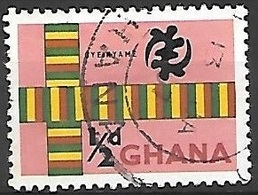 1959 1/2p Cloth, Used - Ghana (1957-...)