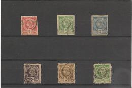 HAITI Années 1881/82   N°Y/T : 1-3-5-8/10 Oblitérés Côte: 41,50€ - Haiti
