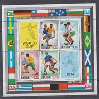 ANTIGUA 1974 FOOTBALL WORLD CUP S/SHEET - Coppa Del Mondo