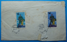 1965 Albania, Stamps On Cover, Seal TIRANA, Stamp:2,50 Amd 12.50 Leke BORDER SOLDIERS, Damaged - Albania