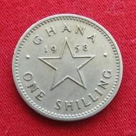 Ghana 1 One Shilling 1958 KM# 5 *V1  Gana - Ghana