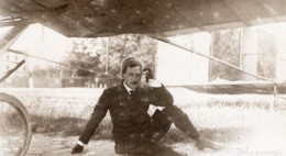 Italie Milan Leon Delagrange Et Son Aeroplane Aviation Ancienne Photo 1908 - Aviation