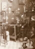 Aviation Leon Delagrange Dans Son Atelier De Sculpture Ancienne Photo Rol 1908 - Aviation