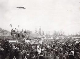 France Aviation Vedrines En Vol Sur Morane Ancienne Photo Branger 1911 - Aviation