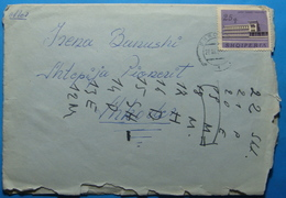 1965 Albania, Airmail Cover To Shkodra, Seal SHKODRA, Stamp:25q  HOTEL POGRADEC - Albania