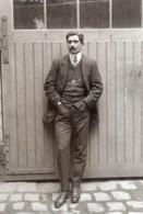 Portrait De Charles Voisin Pionnier De L'Aviation Ancienne Photo Rol 1912 - Aviation