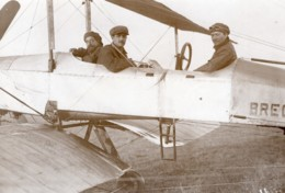 Aviation Militaire Biplan Breguet Grandes Manoeuvres Rene Moineau Ancienne Photo Meurisse 1911 - Aviation
