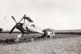 Aviation Militaire Biplan Breguet Concours De Reims Rene Moineau Ancienne Photo Branger 1911 - Aviation