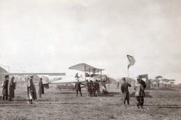 Aviation Militaire Biplan Breguet Concours De Reims Rene Moineau Ancienne Photo Meurisse 1911 - Aviation