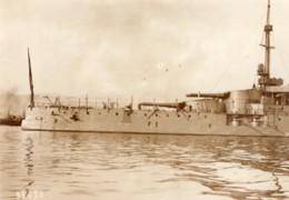 France Cuirasse Courbet En Rade De Toulon Ancienne Photo Rol 1914 - Boats