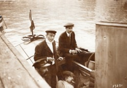 Monaco Alphonse Tellier Emile Dubonnet Canot Automobile Panhard Ancienne Photo Rol 1914 - Boats